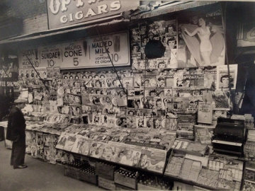Newsstand East 32nd Street & Third Avenue, Manhattan, November 19, 1935  Photography - Berenice Abbott