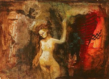 Untitled Painting 1999 8x10 Original Painting - Gor  Abrahamyan
