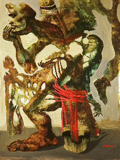 Untitled Painting 2004 16x12 Original Painting - Gor  Abrahamyan