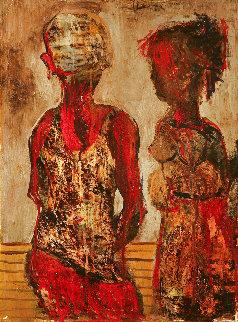 Untitled Painting 2003 16x12 Original Painting - Gor  Abrahamyan