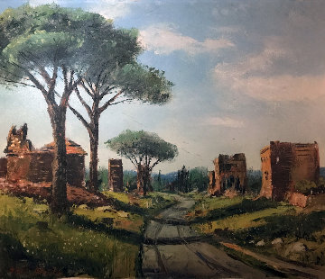 Catacombs Rome 21x28 Original Painting - Ben Abril