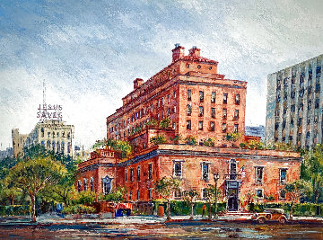 California Club - Los Angeles 36x46 Super Huge Original Painting - Ben Abril