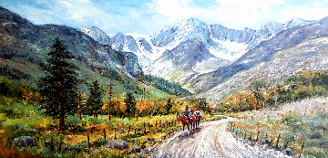 Road to McGee Creek 34x57 Super Huge (California) Original Painting - Ben Abril