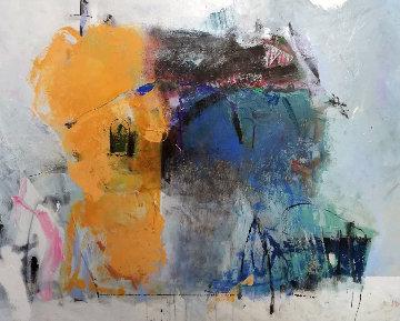 Untitled Abstract 31x39 Original Painting - Vano Abuladze