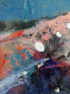 Boat 27x39 Original Painting by Vano Abuladze