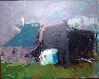 Old Village 31x39 Original Painting by Vano Abuladze - 1
