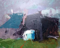 Old Village 31x39 Original Painting by Vano Abuladze - 0