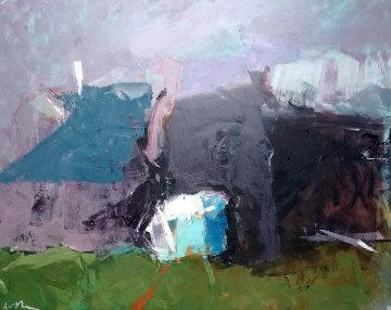 Old Village 31x39 Original Painting by Vano Abuladze