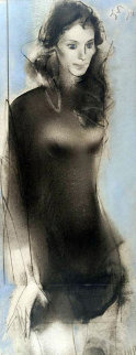 Katie Melua 2009 48x18 Original Painting - Vano Abuladze