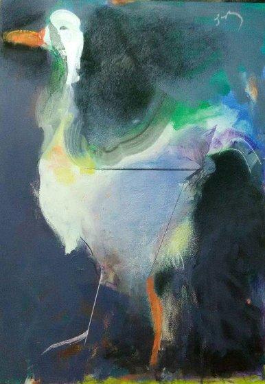 Duck 2013 27x19 Original Painting by Vano Abuladze