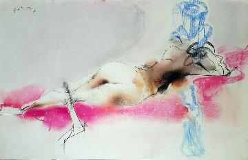 Nude Drawing 27x43 Drawing - Vano Abuladze