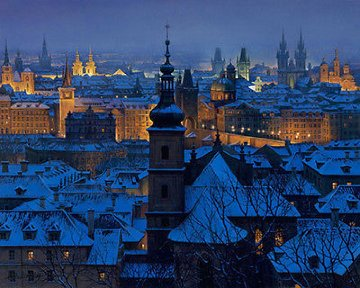 Evening in Prague 2000 Limited Edition Print - Alexei  Butirskiy