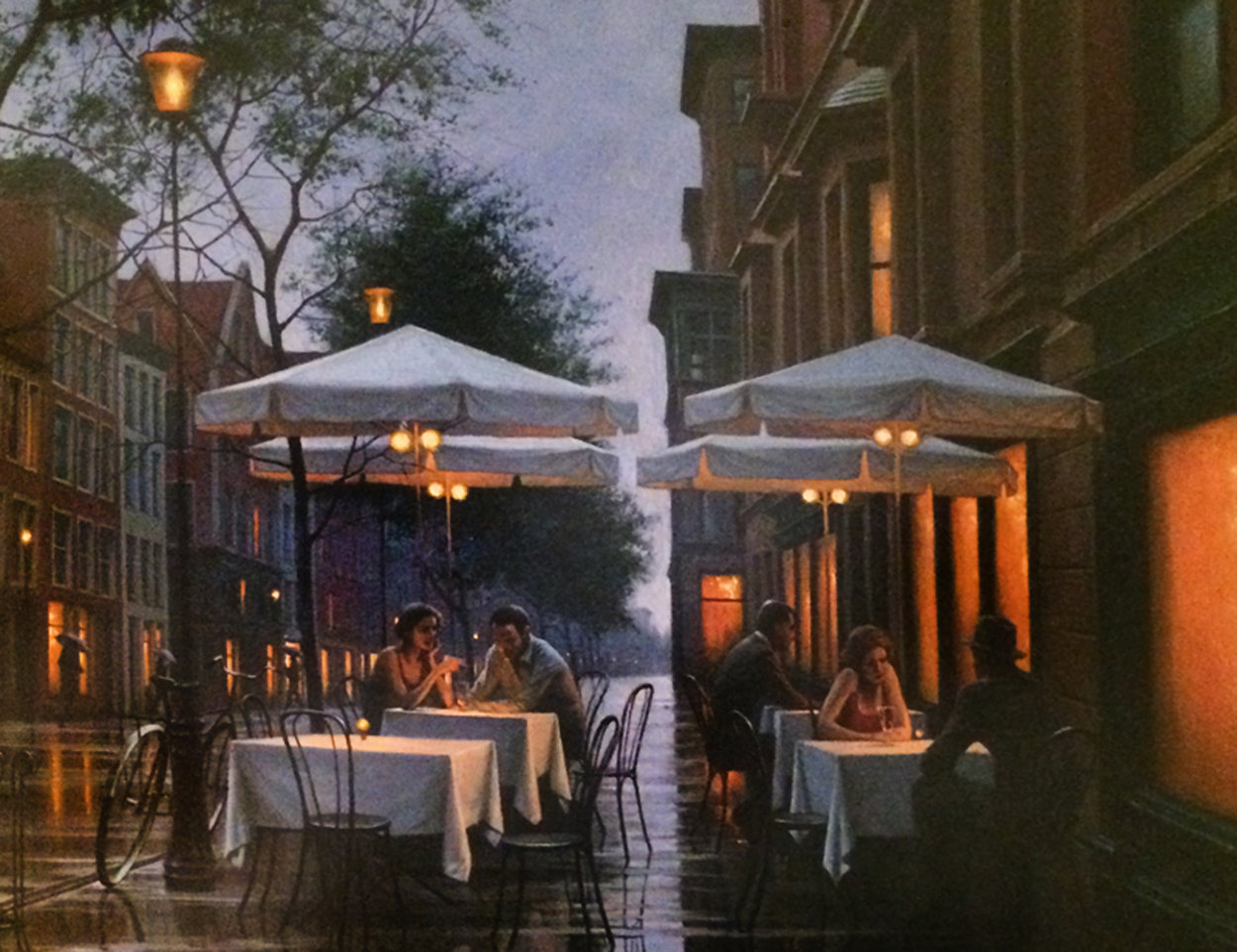 Enchanted Evening 30x33 Original Painting by Alexei  Butirskiy