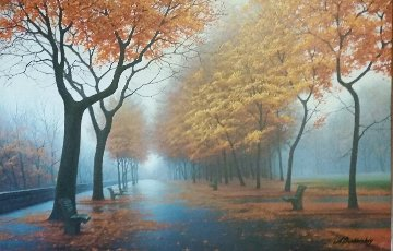 Autumn Leaves Embellished  Limited Edition Print - Alexei  Butirskiy