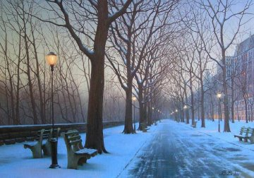 A Cold Winter's Night Embellished 2008 Limited Edition Print - Alexei  Butirskiy