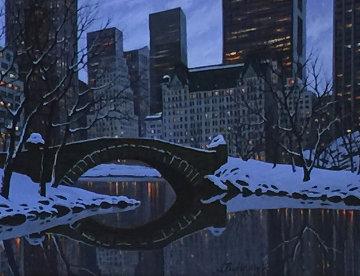 Central Park 2012 20x24 Original Painting by Alexei  Butirskiy