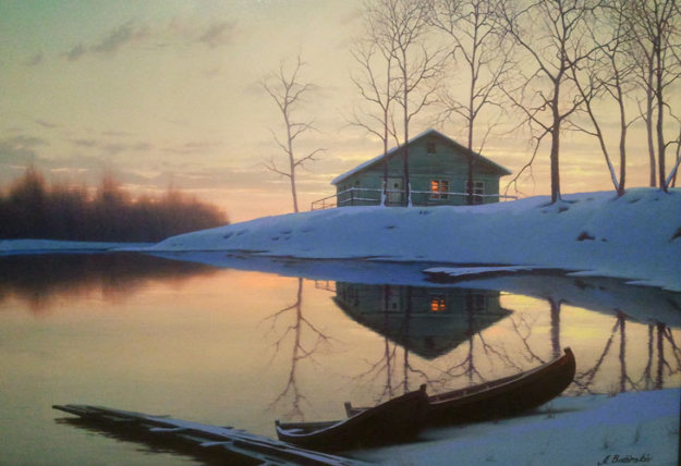 Peaceful Sunset 2004 Embellished Limited Edition Print by Alexei  Butirskiy