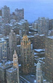 Magnificent Mile 48x36 Chicago Original Painting by Alexei  Butirskiy