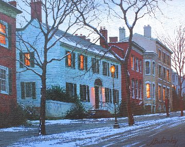 A Night in Georgetown 2010 16x20 Original Painting - Alexei  Butirskiy