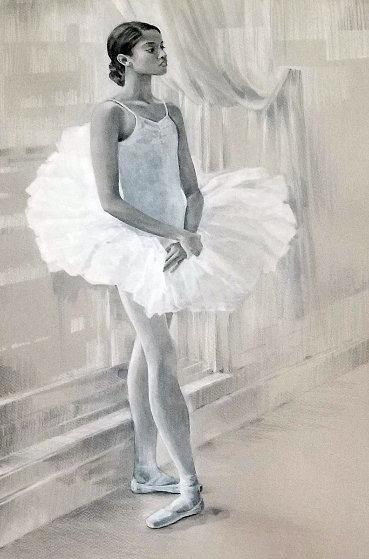 Waiting For Inspiration Watercolor  40x32 Watercolor by Demetrij  Achkasov