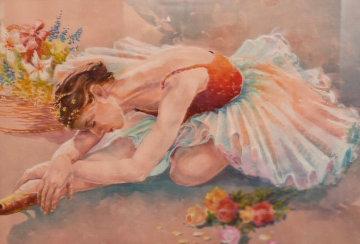Usual Stretch Watercolor 29x37  Watercolor by Demetrij  Achkasov