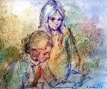 Untitled 24x27 Original Painting - Antonio  Gonzalez Collado