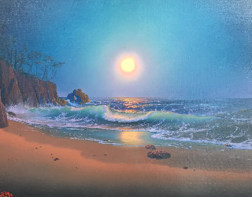 Divine Order 1987 23x27 Original Painting by Loren D Adams