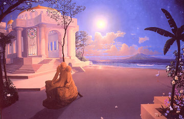 Naacal Temple 1988 Limited Edition Print by Loren D Adams