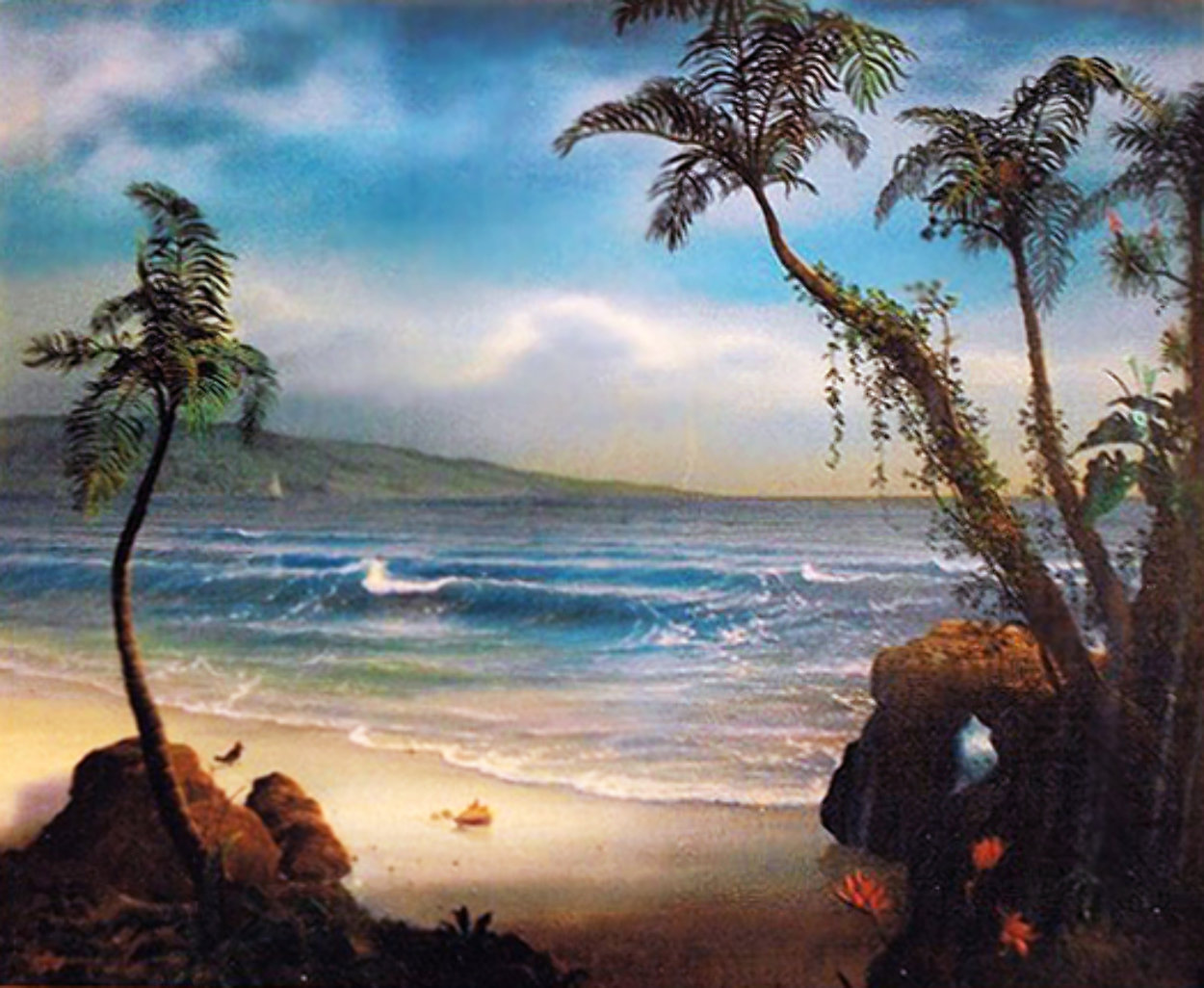 Stranger in Paradise 1984 16x20 Original Painting by Loren D Adams