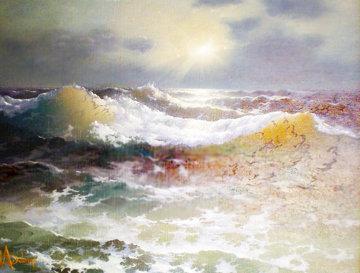 Nature's Wrath 1970 24x31 Original Painting by Loren D Adams