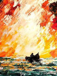 Deep Summer 16x12 Original Painting - Adeline Josephine Cumpata