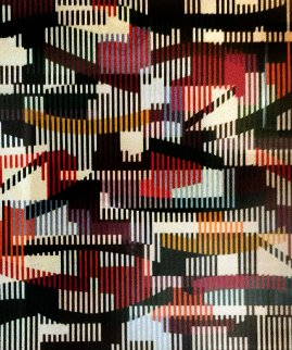 Untitled   Monotype Unique 1990 40x34 Limited Edition Print by Yaacov Agam
