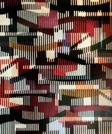 Untitled   Monotype Unique 1990 40x34 Limited Edition Print by Yaacov Agam - 2