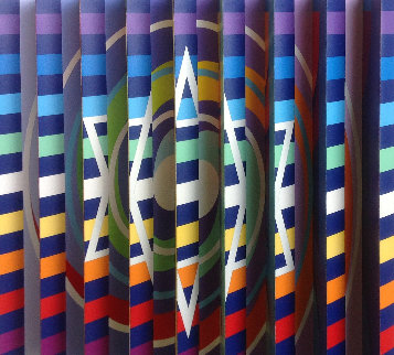 Rainbow Visual Prayer Polymorph  2008 Sculpture - Yaacov Agam