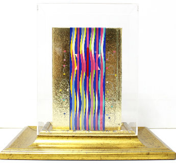 Golden Bible Sculpture  1987 6 in Sculpture - Yaacov Agam