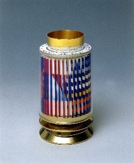 Kiddush Cup  Silver Agamograph Sculpture Sculpture by Yaacov Agam