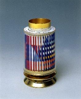 Kiddush Cup  Silver Agamograph Sculpture Sculpture - Yaacov Agam