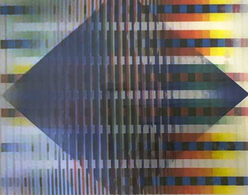 Abstract AP 2012 Agamograph  Sculpture by Yaacov Agam