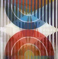 Star of David Combined With Hanukka 2002 Agamograph Sculpture by Yaacov Agam - 0