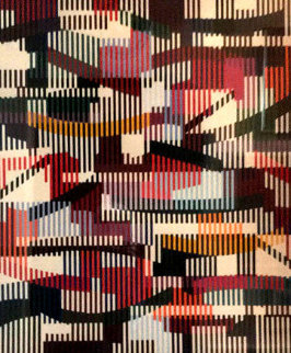 Untitled Monotype Unique  42x38 Limited Edition Print - Yaacov Agam