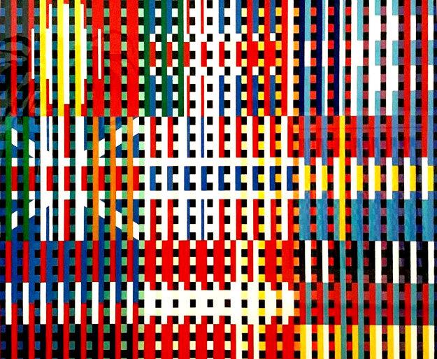 Flag AP Limited Edition Print by Yaacov Agam