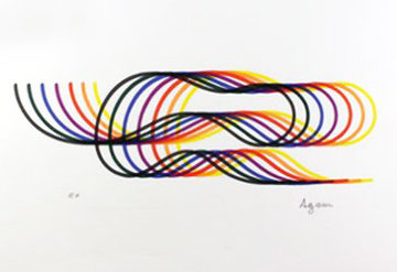 Lines And Forms 2 1984 Limited Edition Print - Yaacov Agam