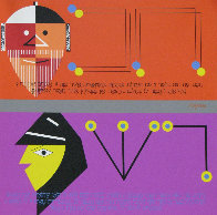 Chacham and Rasha and Wise And The Evil Hagaddah #11 1985 Limited Edition Print by Yaacov Agam - 0