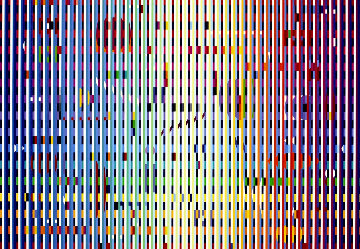Depth of the Sea, Transparent Blue Grill Agamograph 2010 Sculpture - Yaacov Agam