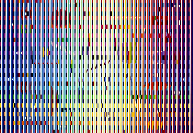 Depth of the Sea - Transparent Blue Grill Agamograph 2010 Limited Edition Print by Yaacov Agam