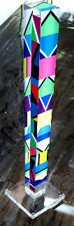 Columns Acrylic Unique Sculpture 2015 22 in Sculpture - Yaacov Agam