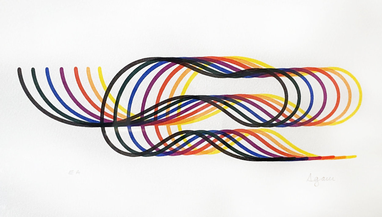 Lines and Forms  Suite of 4 1982  Limited Edition Print by Yaacov Agam