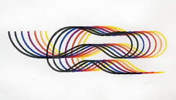 Lines and Forms  1982 too high Limited Edition Print - Yaacov Agam