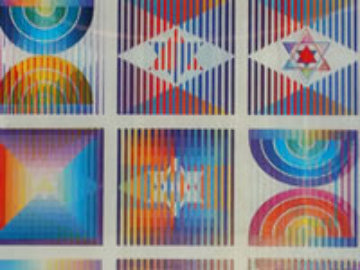 9 Up Agamograph Sculpture - Yaacov Agam