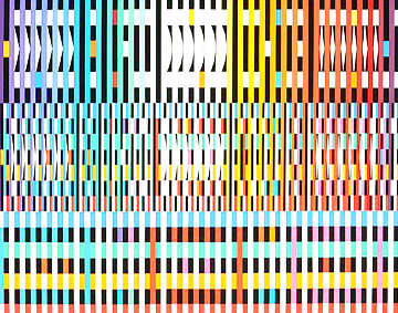 Thanksgiving (Dark) Limited Edition Print - Yaacov Agam